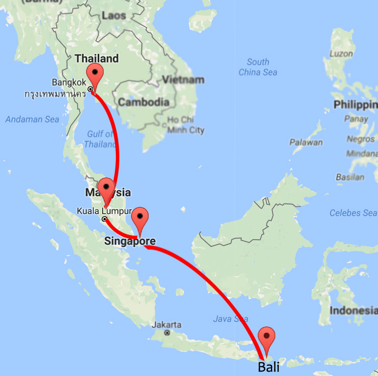 13 days southeast asia trip council map gumiabroncs Choice Image